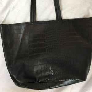 Kenneth Cole Reaction black leather tote